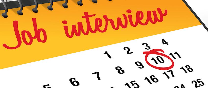 Job Interview Day mark on calendar vector illustration